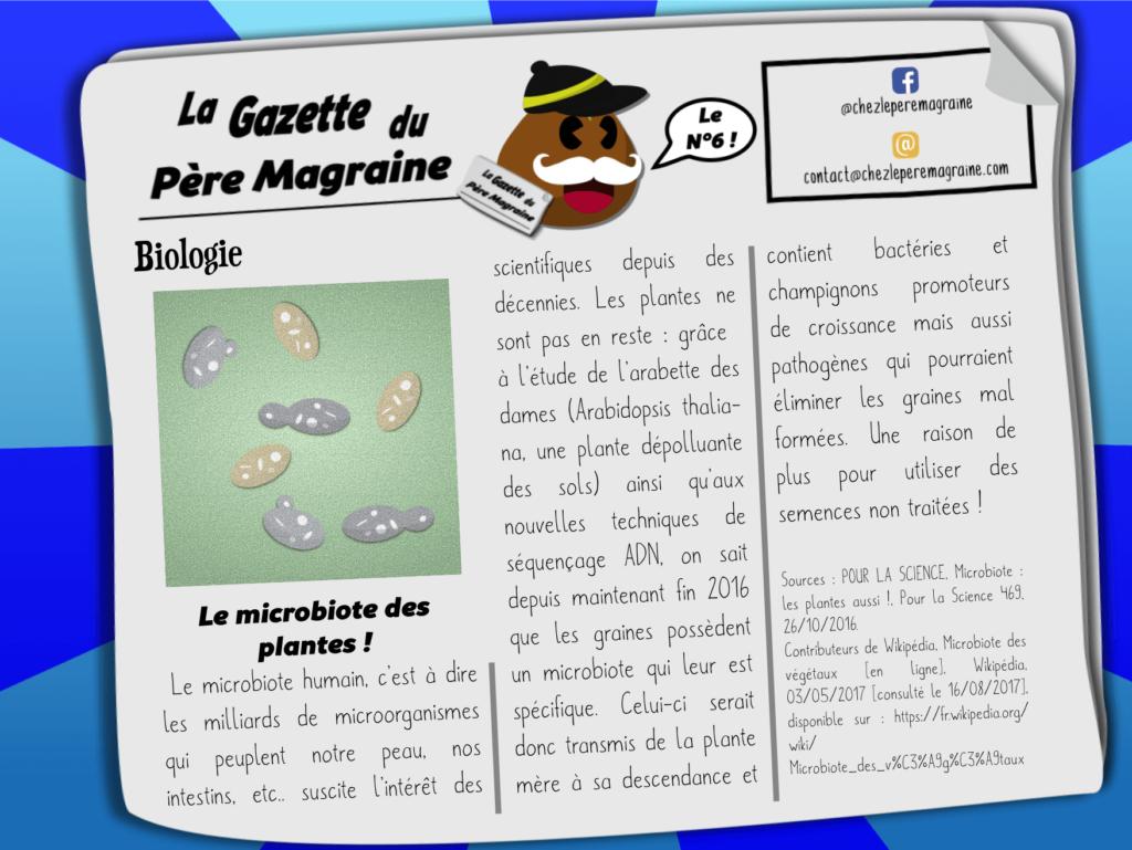 Gazette Père Magraine n°6 - Microbiote des plantes