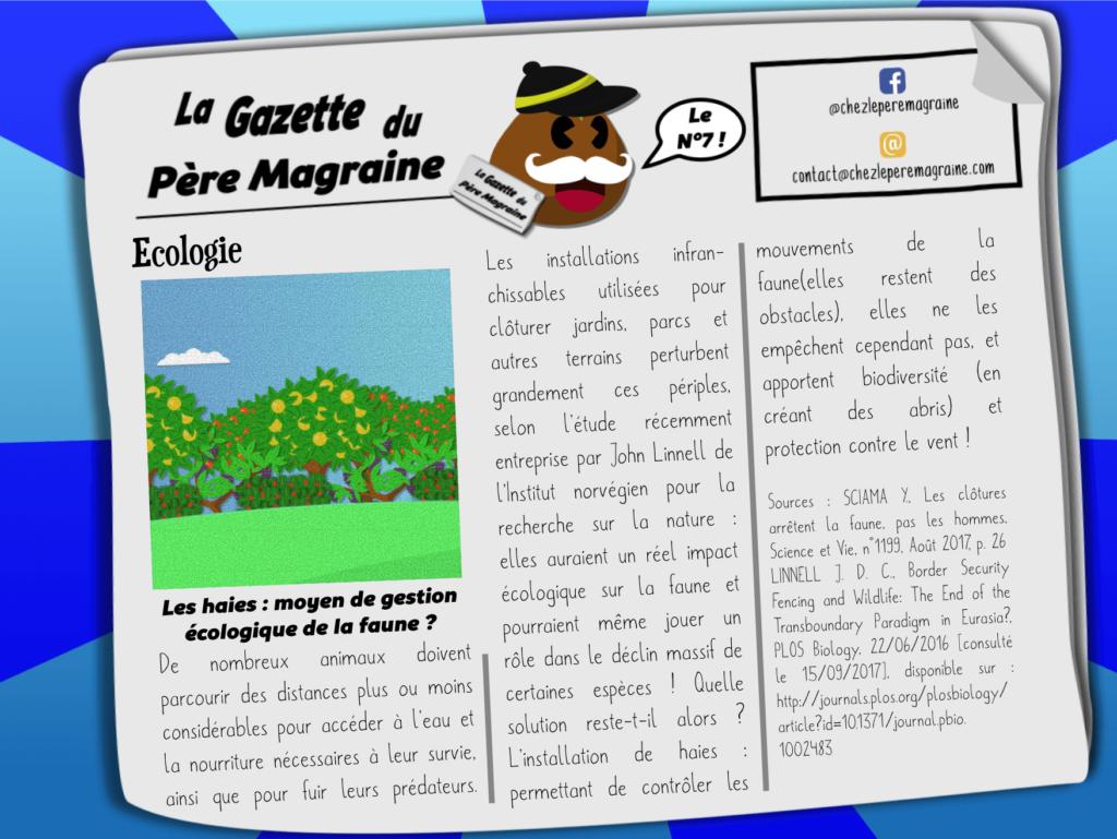 La Gazette du Père Magraine n°7 - Haies