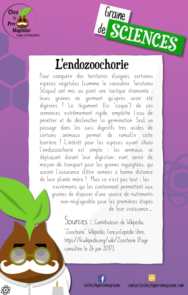 Graine de Sciences - Endozoochorie