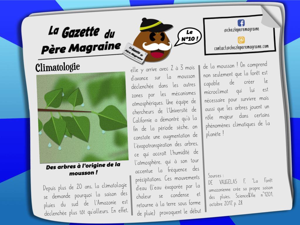 Gazette Père Magraine n°10 - Arbres à l'origine de la mousson