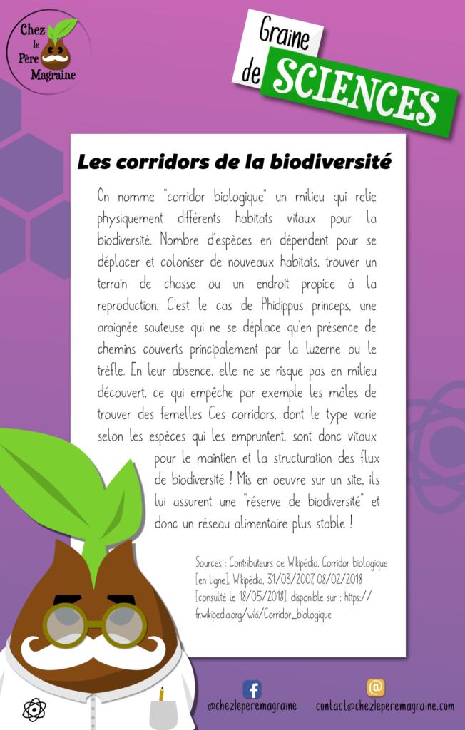 Graine de Sciences 17 corridor biologique
