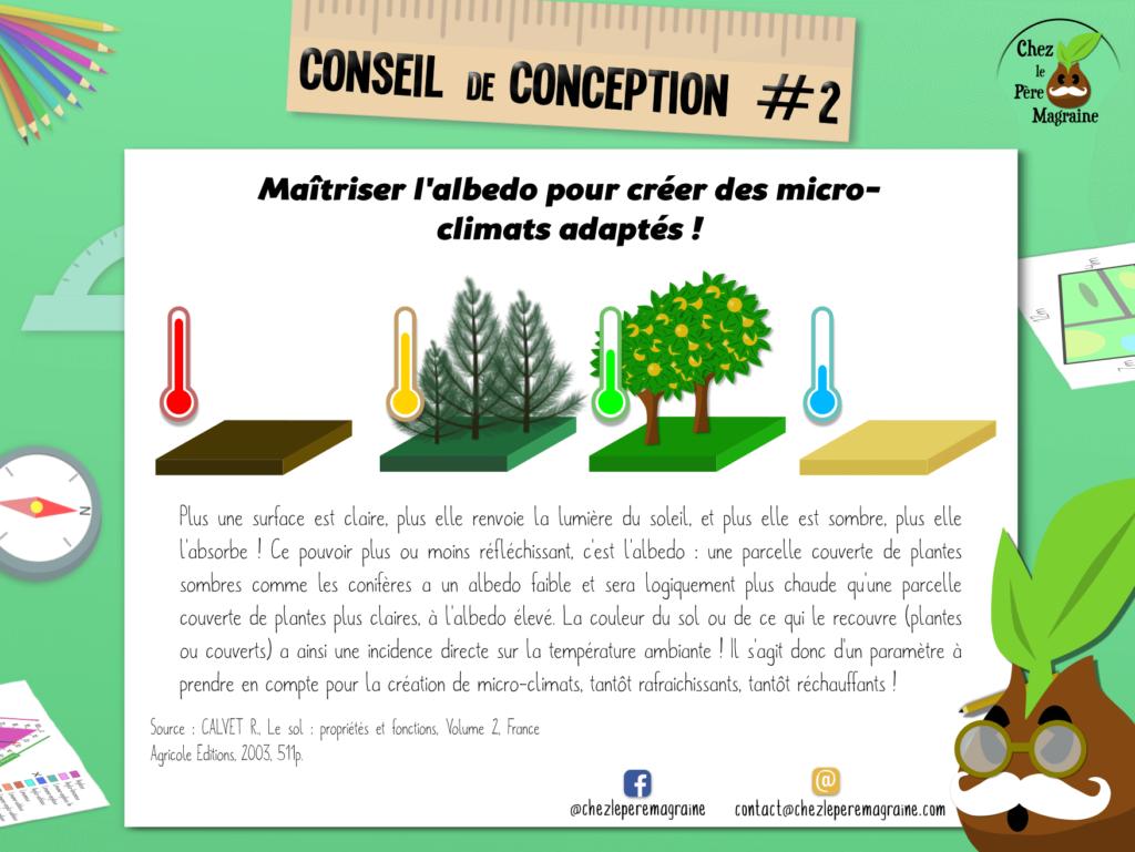 Conseil de conception 2 - Albedo et micro-climat