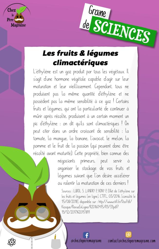 Graine de Sciences 21 Fruits et légumes climactériques