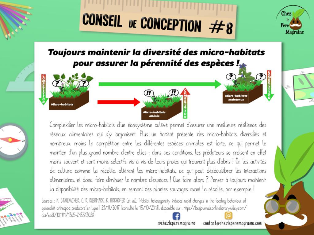 Conseil de conception 8 - Les micro-habitats
