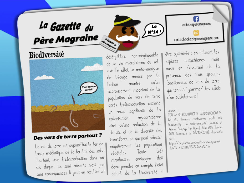 Gazette Père Magraine n°14 - Des vers de terre partout ?
