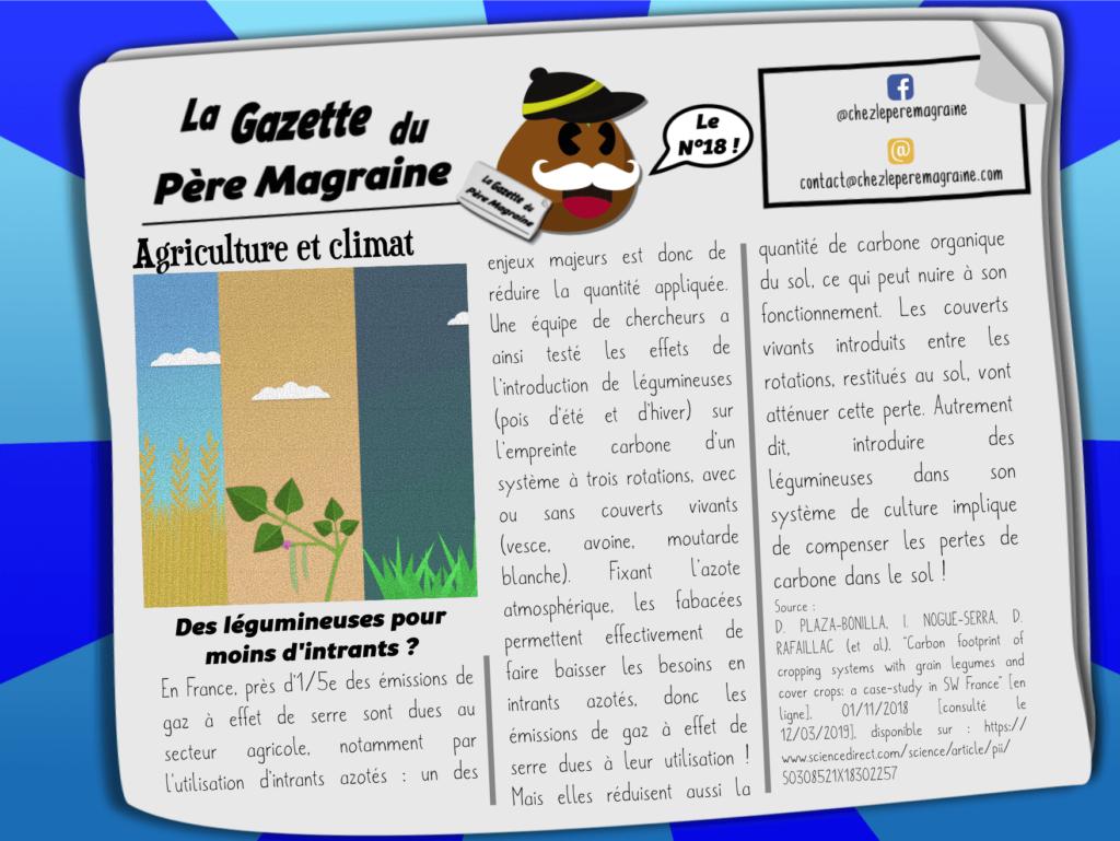 Gazette Père Magraine n°18 - Fabacées et couverts vivants